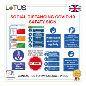 Social distancing in operation -  Virus Safety Sign - Sticker / Plastic