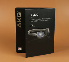 AKG K420 Foldable Mini Headband Headphones - Gray/Blue Brand New Classic headset
