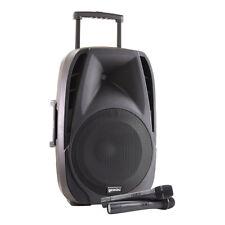 Gemini ES-12TOGO 600w Portable Bluetooth Battery Speaker inc 2 x Wireless Mic