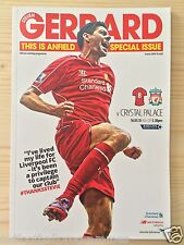 LIVERPOOL V CRYSTAL PALACE (16/05/2015) *(STEVEN GERRARD LAST HOME GAME)