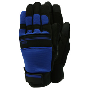 Town & Country Ultimax Gardening Gloves - Close Fit Comfort - Navy - Size Large