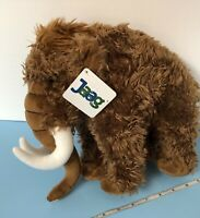 """NEW WITH TAGS! Adorable Jaag Brown Wooly Mammoth Tusks 12"""" PLUSH Stuffed Animal"""