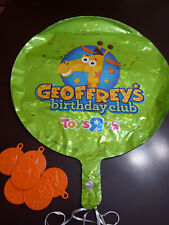 Toys R Us Geoffrey baloons with weights