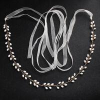 Pear Rhinestone Crystal Waist Bridesmaid Dress Sash Wedding Dress Sash Belt
