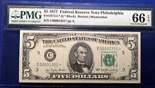 $5  1977 FRN Fr#1974-C* Philadelphia  PMG66 Gem Uncirculated