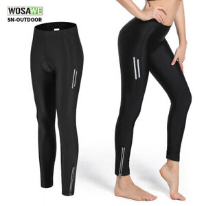 Women Cycling Long Pants 4D Padded Tights Team Bike Racing Compression Trousers