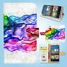 HTC One M7 M8 M9 Print Flip Wallet Case Cover Colour Art W091