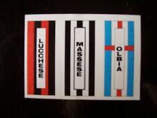FIGURINA CALCIO FLASH 84 SCUDETTI LUCCHESE MASSESE OLBIA ( X5-24)