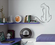 PANTHER big cat vinyl decal fancy sticker wall art home saloon decoration P1