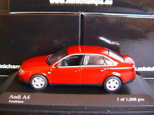 AUDI A4 3.0 2000 B6 AMULETTROT MINICHAMPS 430010102 1/43 RED ROUGE ROSSO ROT
