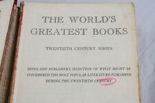 The Worlds Greatest Books Twentieth Century Series 1942 WM H Wise & Co     l6y51