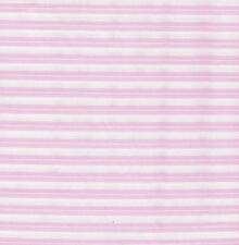 QUILT FABRIC BY THE YARD, 100% COTTON: BABY BASICS PINK TWO STRIPE 0715711