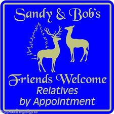New Personalized Welcome Home House Friends Relatives Sgn #4 Custom USA Made