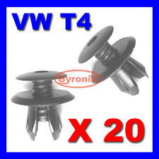 20 X VOLKSWAGEN VW T4 T5 TRANSPORTER INTERIOR TRIM LINING PANEL CLIPS - BLACK