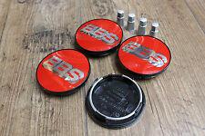 Original BBS Emblem 70,6mm Rot Silber & BBS Ventilhülsen 10016291 Felgendeckel