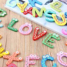 Fridge Wooden Magnet Baby Children Toy A-Z ABC Educational Alphabet 26 Letter S#