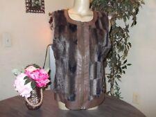 Womens Multiples Faux Fur Mink Zip Vest size M SOFT