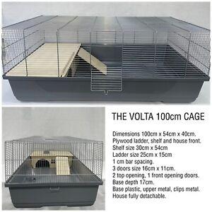 Volta 100cm Hamster Rat Gerbil Degu Extra Large Cage Grey