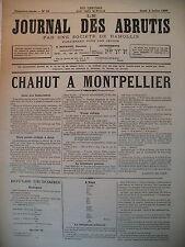 JOURNAL DES ABRUTIS N° 28 CHAHUT A MONTPELLIER FARIBOLES ET CALEMBOURS 1880