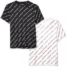 True Religion Men's All Over Monogram Branded Logo Tee T-Shirt