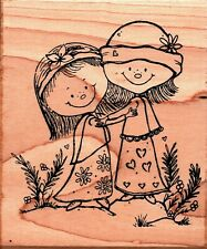 Great Impressions ~ BETH & JANE ~ Wood Mounted Rubber Stamp Friends Forever