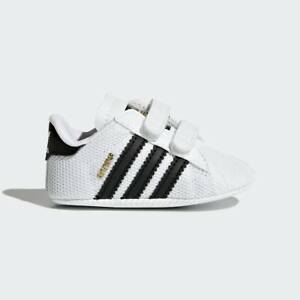 Newborn Adidas Originals Superstar Crib Shoes (S79916)  White // Black