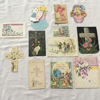 Old vintage Easter cards 12 LOT Whitney Made, Gibson, Norcross, popup