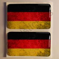 Pegatinas Alemania Pegatina Bandera Manchada Vieja Adhesivo 3D Relieve Resina