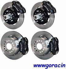 "WILWOOD DISC BRAKE KIT,1955-1957 CHEVY 150,210,BEL AIR,12"" ROTORS,BLACK CALIPERS"