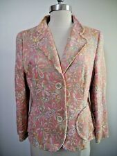 NEW AKRIS PUNTO pink with colors floral brocade jacket blazer size 10
