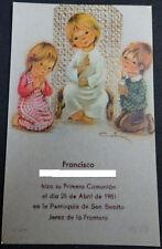 ESTAMPA PRIMERA COMUNION PARROQUIA SAN BENITO JEREZ 1981 HOLY CARD        CC1266