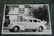 "12 By 18"" Black & White Picture 1937 Oldsmobile 8 Sedan 4 Door"