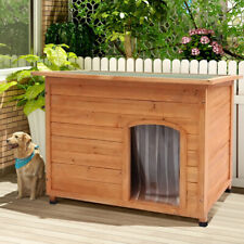 Insulated Large Dog Kennel Pet Puppy Garden House Wooden With Removable Floor UK