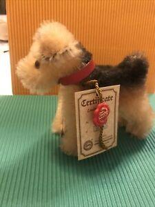 Hermann Teddy Hund Airedale Fox limitiert auf 3000 unbespielt ca. cm 10 hoch