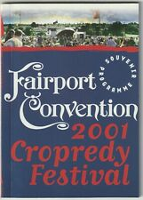 FAIRPORT CONVENTION CROPREDY FESTIVAL 2001 programme Lonnie Donegan Eliza Carthy
