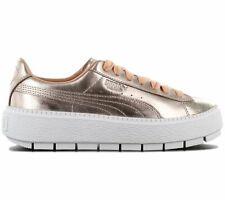 Puma Basket Platform Trace Luxe Damen Sneaker 367852-01 Gold Metallic Schuhe NEU