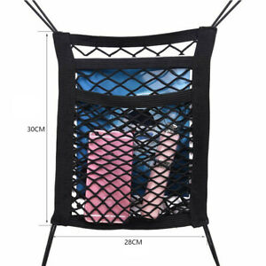 3 Layer Car Seat Hanging Bag Mesh Pocket Net Storage Tidy Organiser Nylon Holder