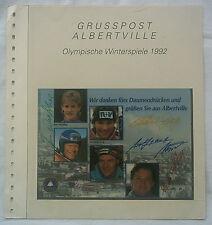 5 Orig.Autogramme Deutscher Sportler   Olympische W.Spiele ALBERTVILLE 1992 B !!