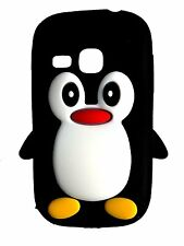 Black Silicone Penguin Phone Case / Cover for Samsung Galaxy Young S6310
