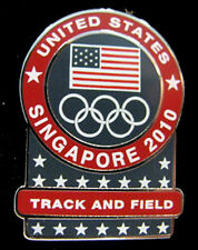 Singapore 2010 rare USA YOG Olympic NOC  TRACK & FIELD team pin