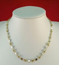 STUNNING 18CT SOLID GOLD 18 INCH FANCY THIN 2 COLOUR ITALIAN STYLE CHAIN
