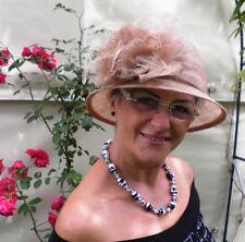 Cappello da donna elegante Beige Matrimonio Occasione Paglietta Ascot