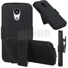 For Motorola Moto G 2nd Gen 2014 EXT Hard Belt Clip Swivel Holster Case Cover