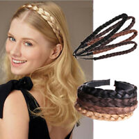 Synthetic twisted wig braided hair band elastic braided princess hair band P