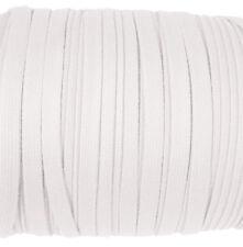 Eloja® 3 Meter Korsett Schnur hochwertig aus Baumwolle 10 mm Breit Weiß