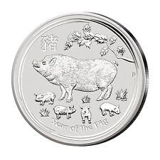 Lunar Schwein Silber 1 kg Australien Lunar Serie 2019 Jahr des Schweins