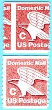 """US STAMP: Sc#1947 COIL  Error  """" C & Eagle""""   Domestic Mail.   RARE EFO"""
