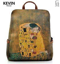 Zaino quadri famosi opere IL BACIO fantasia dipinto alviero pelle Gustav Klimt