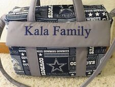 Dallas Cowboy custom handmade Diaper Bag w/ch pad by EMIJANE free embroidery