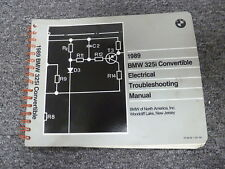 1989 BMW 325i Convertible Electrical Wiring Troubleshooting Shop Repair Manual